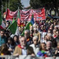 Roma, il corteo dell'Anpi per la Liberazione