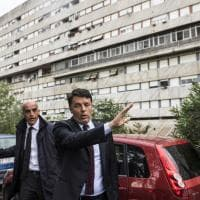 Renzi visita Calciosociale a Corviale: