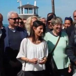 Raggi a Ostia per apertura stagione balneare. L'ex Faber Village restituito all'istituto nautico Colonna
