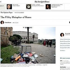 """L'emergenza rifiuti finisce sul New York Times: """"La sporca metafora di Roma"""""""
