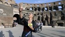 Sharapova e Berdych palleggiano al Colosseo