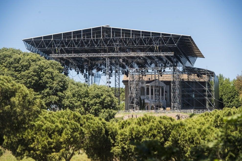 Roma, musical su Nerone, è polemica per il palco montato sul Palatino