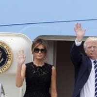 Trump, visita lampo a Roma. Melania al Bambino Gesù, Ivanka a Sant'Egidio