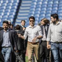 Roma, integrazione e rifugiati: Malagò e il premier canadese Trudeau all'Open Goal