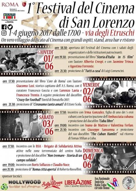 Roma, cinema e libertà: il primo festival a San Lorenzo
