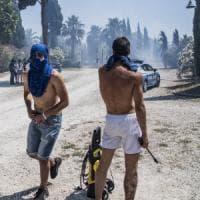 Roma, incendio Casetta Mattei: i residenti