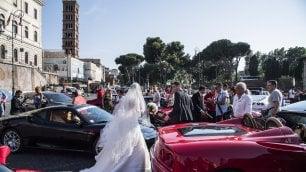Le 'rosse' invadono Roma  foto  per i 70 anni di Maranello