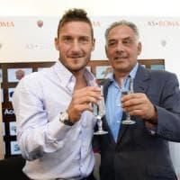 Roma, Totti, aperitivo con Pallotta e arriva l'accordo sarà il nuovo dt