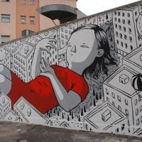 A Monterotondo i graffiti dell'artista di strada Millo