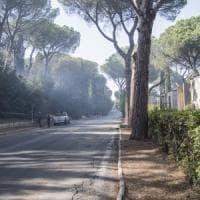 Roma, militari per pattugliare Castel Fusano. Incendio lambisce il cimitero di Prima Porta