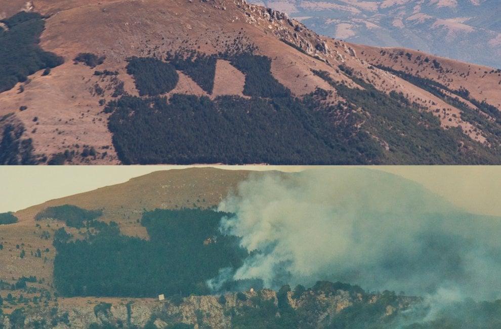 Brucia la scritta Dux sul monte Giano: ecco com'era e com'è