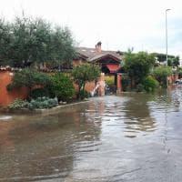 Maltempo a Roma, canali pieni all'Infernetto e Dragoncello