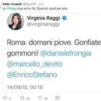 Maltempo Roma, sfottò in rete contro Raggi: