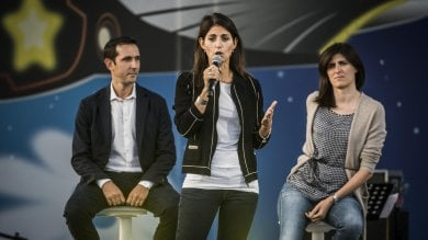"""Virginia a Rimini    tra palco e realtà     foto    """"Roma migliora, è la passione che ci guida"""""""