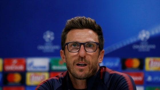 """Roma, Di Francesco: """"Noi superiori al Qarabag, ma serve cattiveria. Dzeko o Immobile? Mi tengo Edin"""""""
