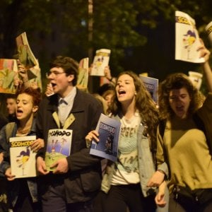 Roma, flash mob Scomodo