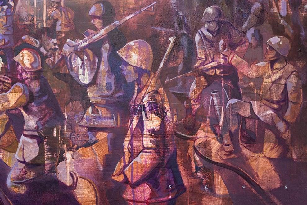 Roma, il senso della guerra di Michal Sepe alla nuova  galleria Varsi