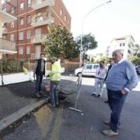 Roma, allerta pioggia: i condomini di via della Farnesina dopo il crollo