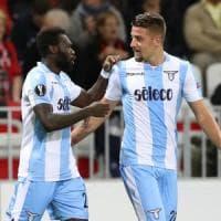 Lazio, a Nizza l'en plein: sei vittorie fuori casa. E Immobile rinnova