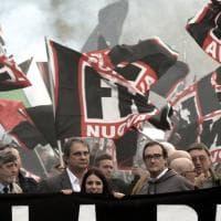 Roma, il corteo Forza Nuova all'Eur. Polemiche e striscioni contro gli immigrati