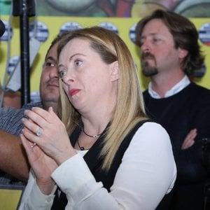 """Giorgia Meloni: """"I neofascisti? Lavorano bene, coi loro voti si vince"""""""