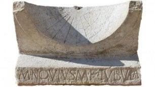 """Meridiana di 2000 anni fa  """"Regalo di un tribuno"""""""