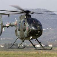 Frosinone, cade elicottero dell'Aeronautica: portati in ospedale i due piloti