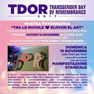 Roma, eventi e mostre per il Transgender Day Of Remembrance