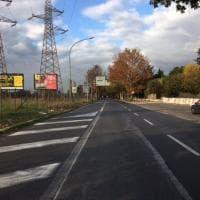 Roma, lavori per le nuove strisce dello svincolo: ma la strada è chiusa da cinque anni