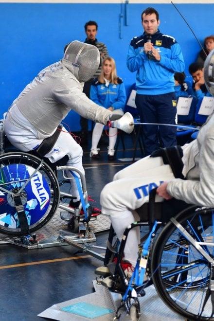 Scherma paralimpica, campioni e allievi: festa sulla Prenestina