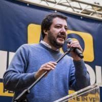 Roma, Salvini in piazza: