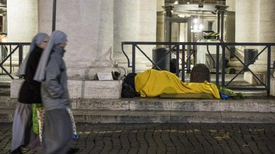 """Roma, Sant'Egidio: """"Su piano freddo Comune in ritardo. In città 7.500 in emergenza abitativa"""""""