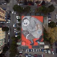 Roma, alla Marranella la street art si vede dal drone