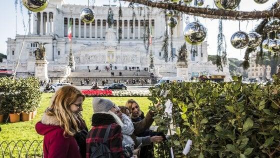 """Roma, il caso dell'abete di piazza Venezia: 'Spoon River' per """"Spelacchio"""""""