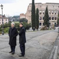 Macron a Roma, la visita alla Domus Aurea: