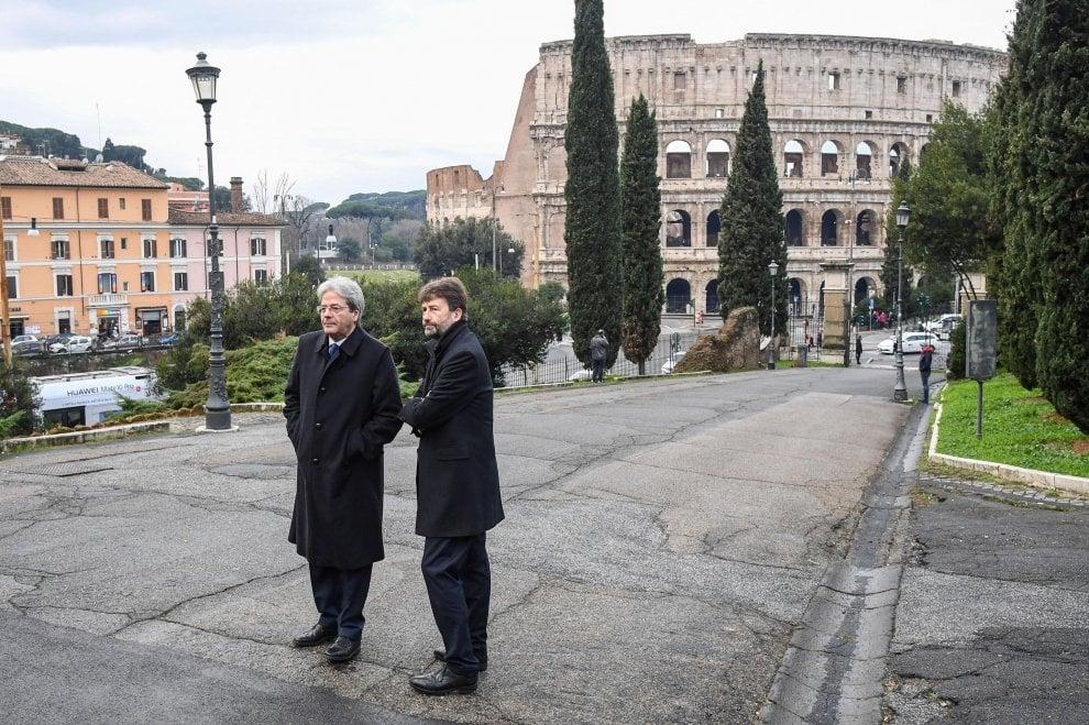 """Macron a Roma, la visita alla Domus Aurea: """"E' magnifica, testimonianza genio europeo"""""""