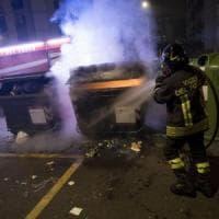 Roma, in fiamme 11 cassonetti a Colli Portuensi: ipotesi dolo