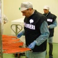 Formia,  blitz dei Nas in azienda ittica: sequestrati oltre mille chili di pesce