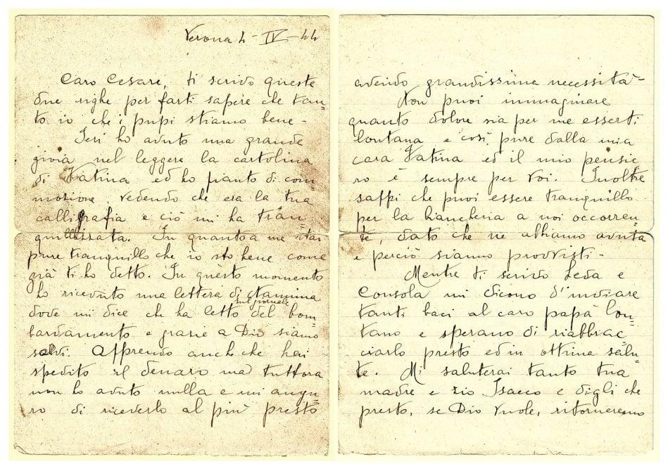 Roma, lettere al marito prima di sparire ad Auschwitz
