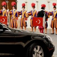 Erdogan in Vaticano per l'incontro con Papa Francesco