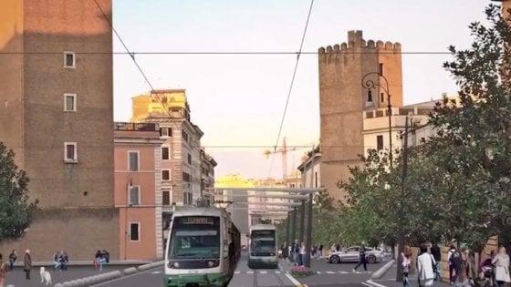 """Roma, tram Fori Imperiali-piazza Vittorio: """"Cantiere nel 2019, consegna nel 2020"""""""