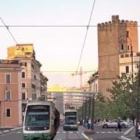 Roma, tram Fori Imperiali-piazza Vittorio: