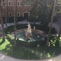 Roma, al via il restauro della fontana di Palazzo Venezia