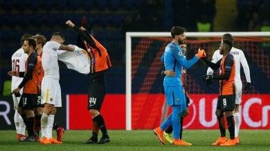Roma ko in Ucraina 2-1 Alisson super  cronaca