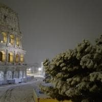 La neve a Roma, le foto dei lettori e sui social