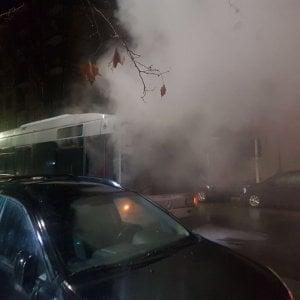 Roma, in fiamme bus della linea 313 sulla Prenestina