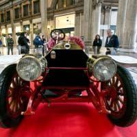 Roma, una Lancia da corsa del 1912 esposta nella Galleria Sordi