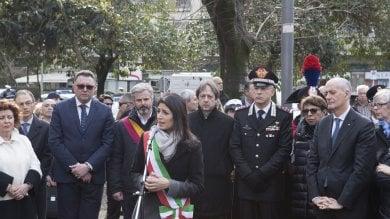 """Anniversario rapimento Aldo Moro   foto   inaugurato giardino """"Martiri di via Fani"""""""