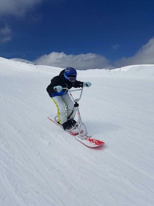 In bici sulla neve: a Campo Staffi è tempo di snowscoot