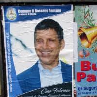 Manifesti a lutto e fiori, l'omaggio di Bassano Romano a Fabrizio Frizzi